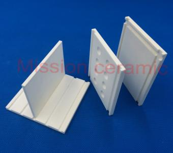 Grooved Alumina Ceramic Plate